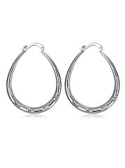 Vintage U Shape Faux Sliver Earrings For Women