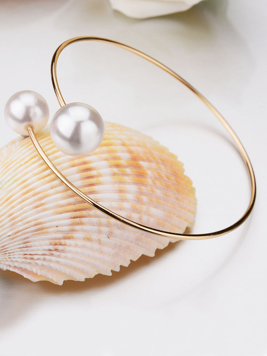 Simple Pearl Cuff Bracelet