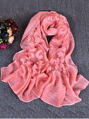 Ladies-Cute-Lace-Print-Infinity-Scarf-Viscose-Loop-Scarf