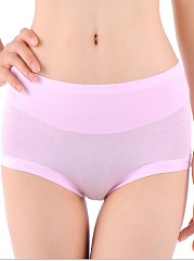 Classical Pure Color Soft Cotton Panties