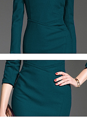 Sweet Heart  Badge  Plain Bodycon Dress