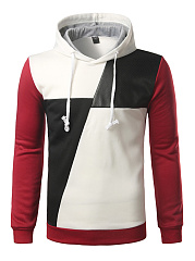 Modern Patchwork Color Block Men Hoodie
