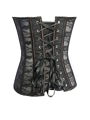 Lace-Up Single Breasted Corset