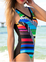 Tribal Printed One Piece For Women