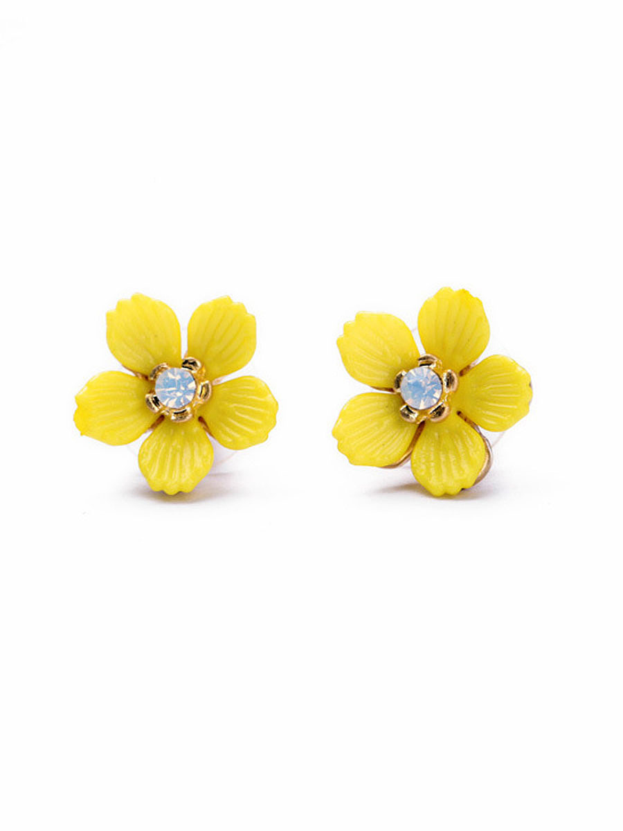 Yellow Floral Cute Earring