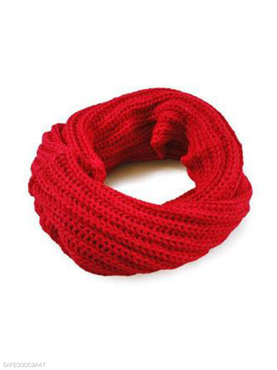 Winter Warm Knitted Plain Wrap Scarf