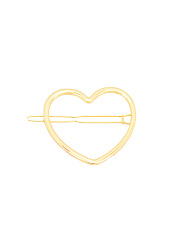 Gold Heart Shape Hair Clip