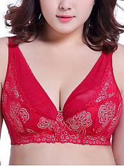 New-Plus-Size-Wireless-Gather-Adjustable-Comfortable-Bra
