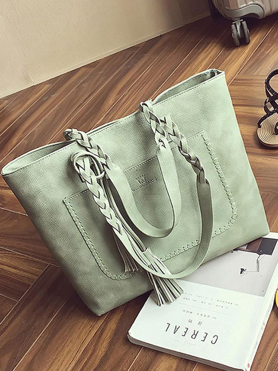 fringe plain shoulder bags New Style Fringe Shoulder Bag