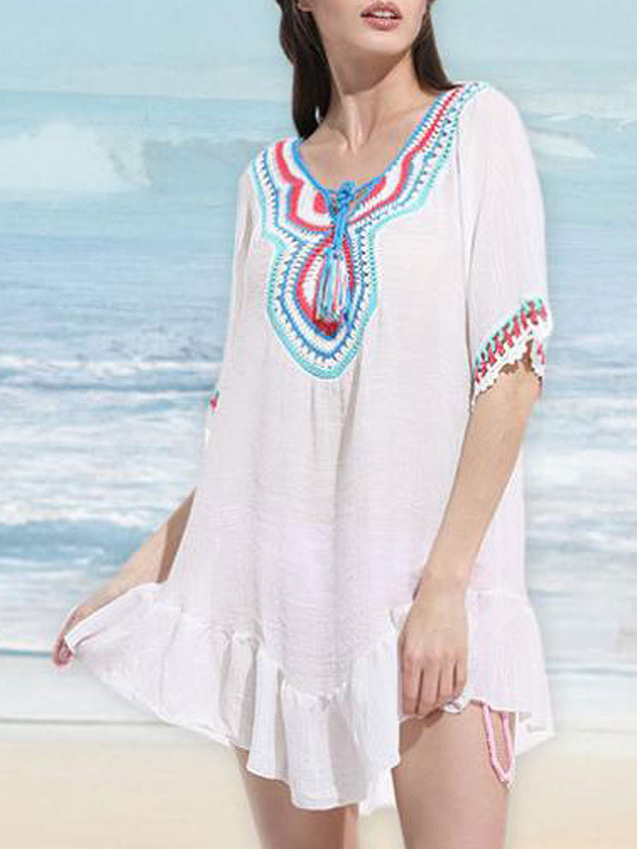New Style National Plain Tunic For Women