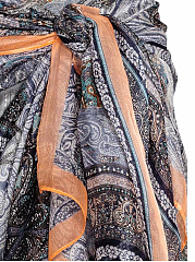 Multi Way Tie-Front Scarf Boho Skirt