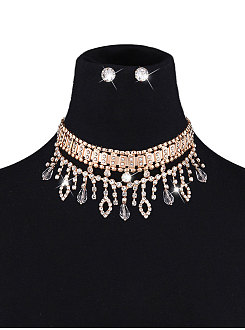 Faux Crystal Jewelry Sets For Women