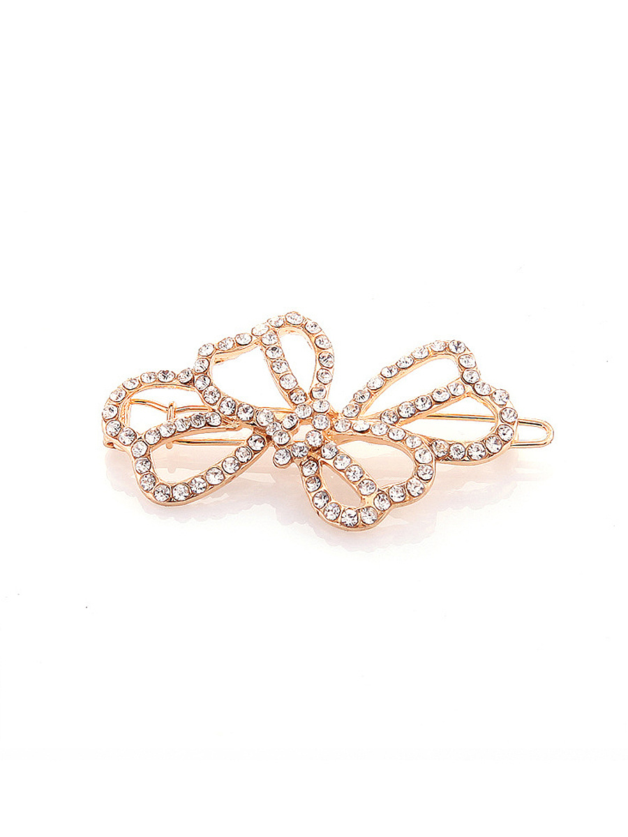 Rhinestone Hollow Out Hair Clip