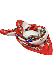 Chain Printed Squared Silk Scarf