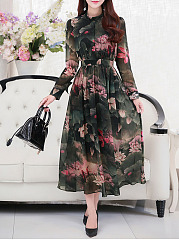 Casual maxi dresses with sleeves 2018 1040