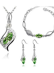 Imitated Crystal Elegant Jewelry Sets For Women
