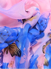 Chiffon Floral Butterfly Printed Scarves