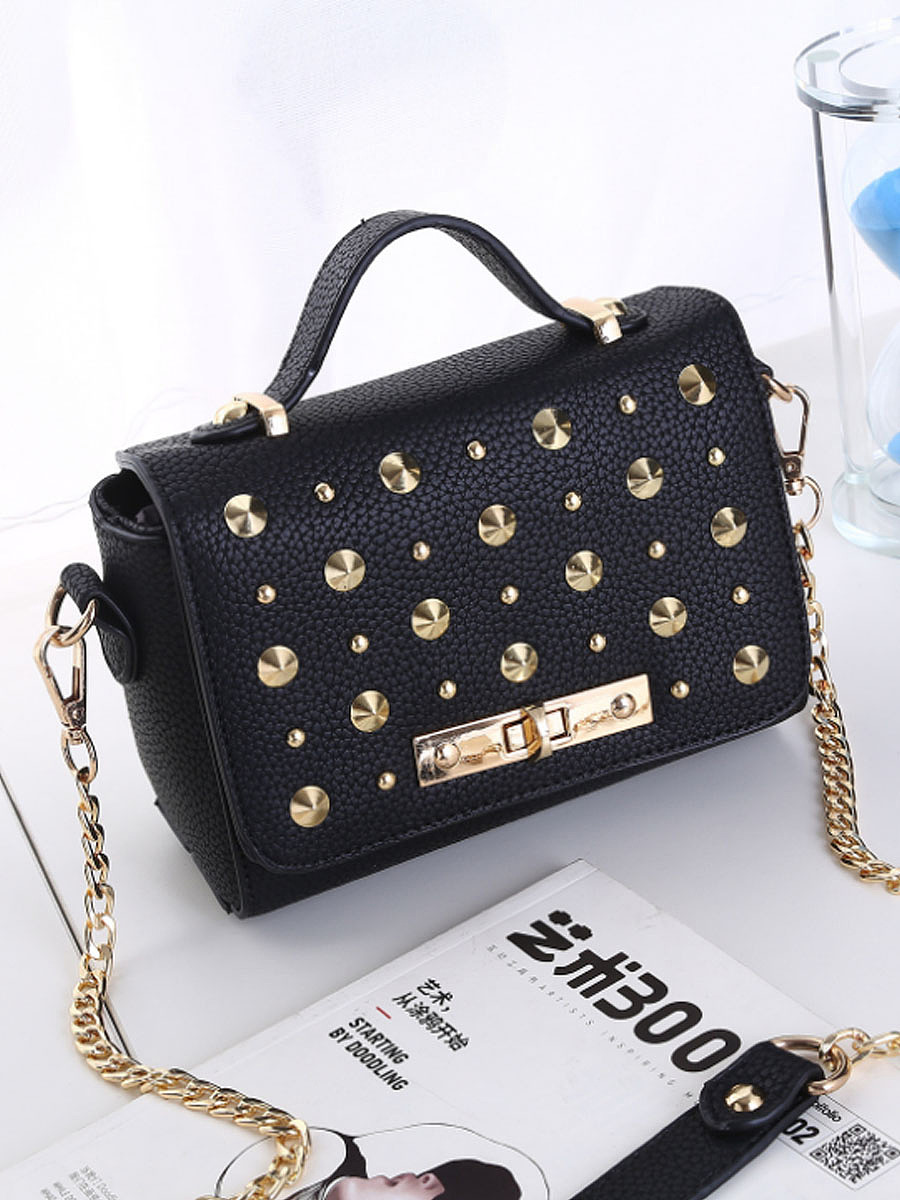 Gold Rivet Crossbody Bag