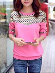 Zigzag-Striped-Round-Neck-Sweatshirt