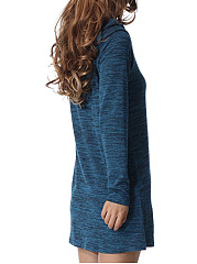 Casual Fold-Over Collar Shift Dress