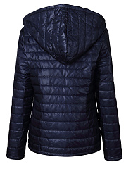 Hooded  Quilted  Plain Jacket