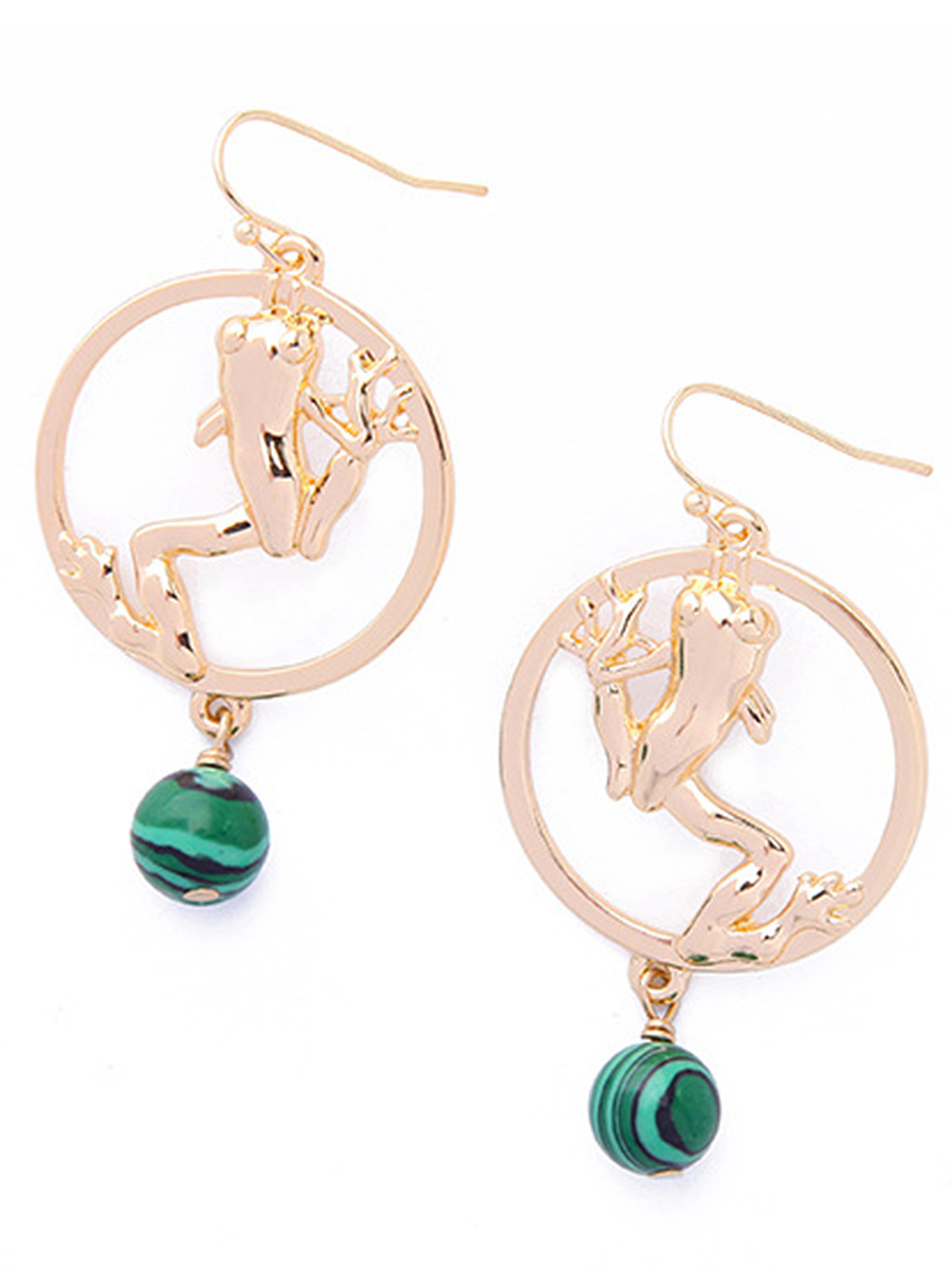 Cute Cut Out Circle Drop Earring