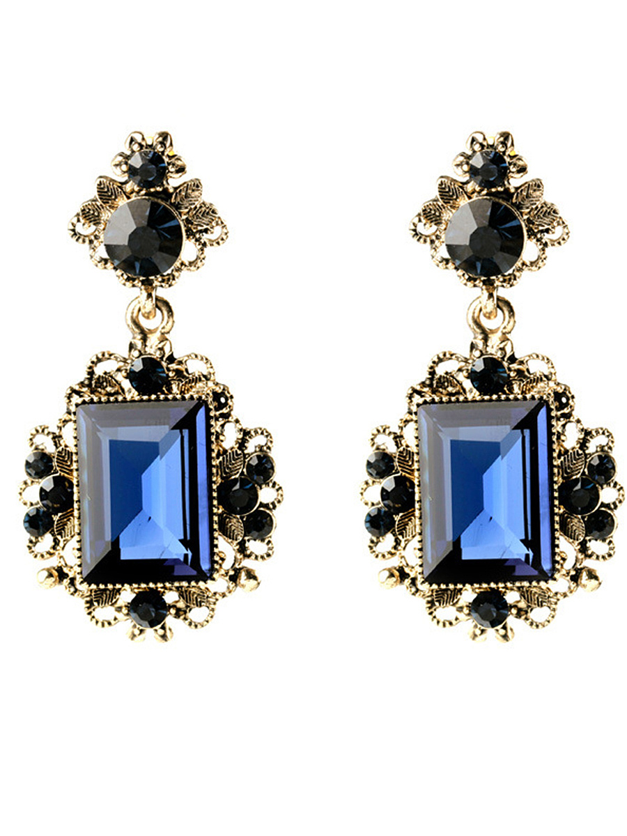 Glamorous Rhinestone Drop Earrings