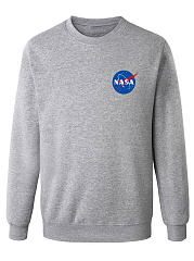 Round Neck Mars Rescue Mens Sweatshirt