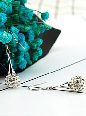 Faux Crytsal Luxury Women  Earrings