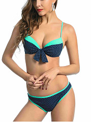 Polka Dot  Low-Rise Bikini Set