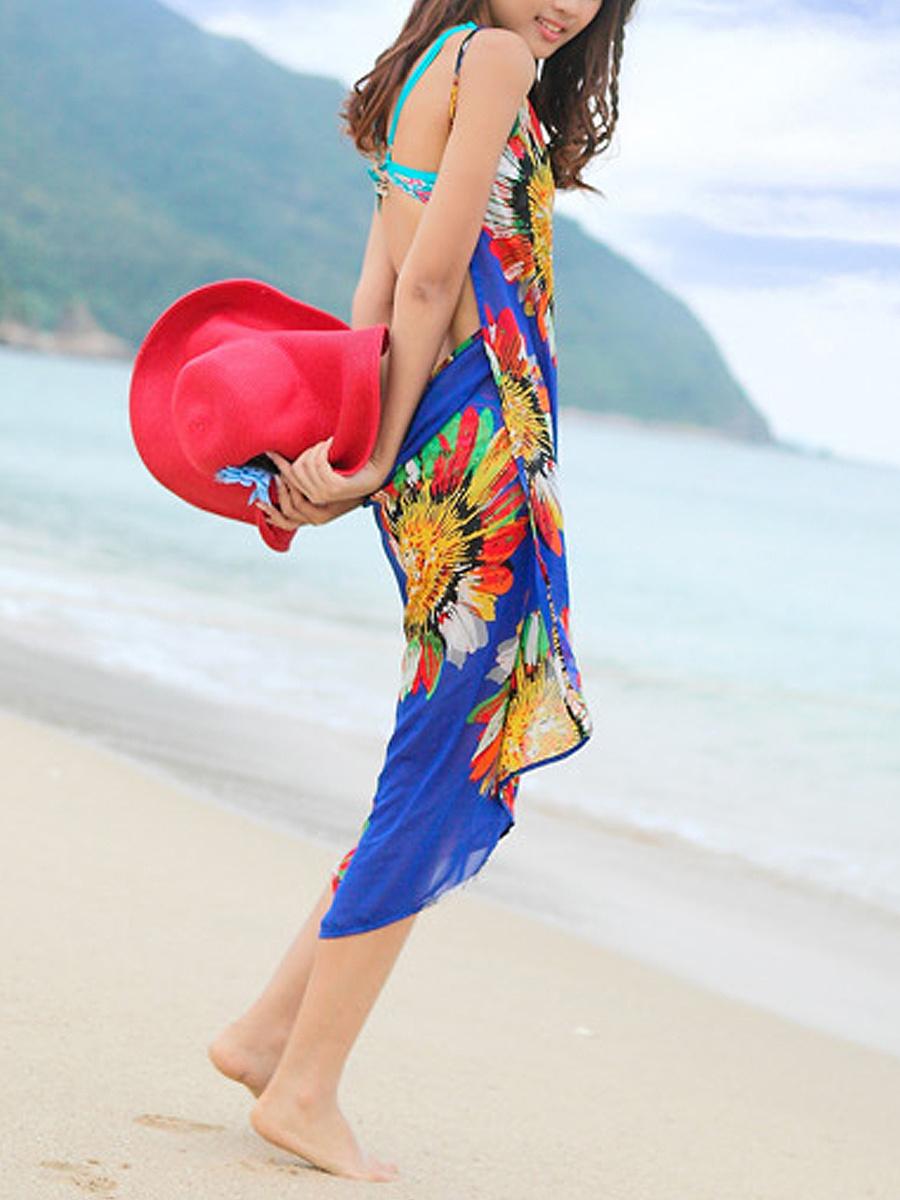 Two Way Beach Chiffon Shawl