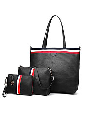 Three Pieces Decrotive Striped Women Shoulder Bags