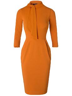 Wholesale distributors Fold-Over Collar Plain Blend Bodycon Dress plus size