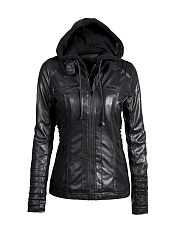 Hooded-Drawstring-Zips-Plain-Jacket