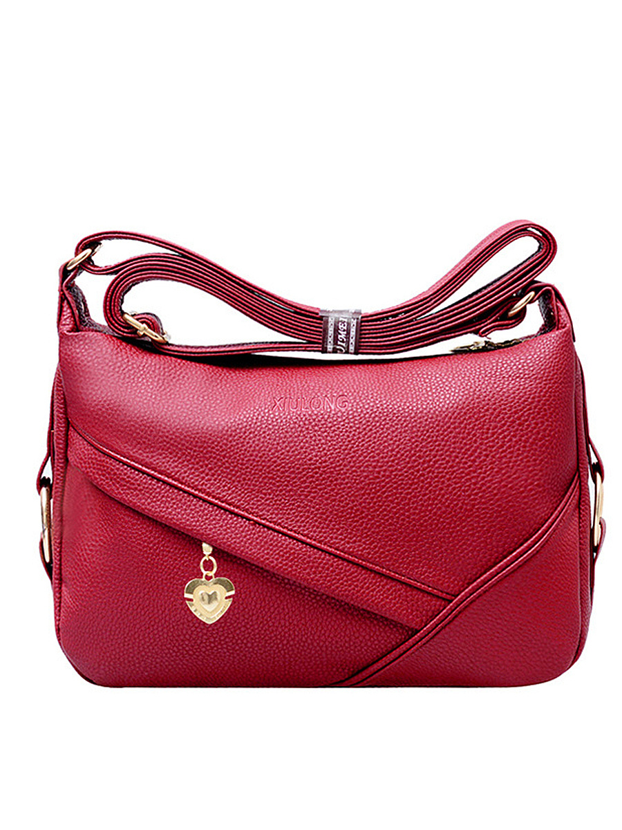 Delicate Embossing PU Crossbody Bag