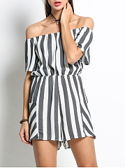 Off-Shoulder-Elastic-Waist-Striped-Modern-Bootcut-Romper