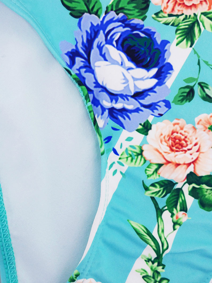 Blue Printed Bikini For Women