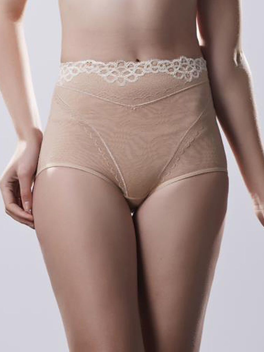 Sexy Mid-Rise  Underwear Shaping Lace Decoration Panties