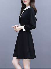 Doll Collar  Colouring Skater Dress