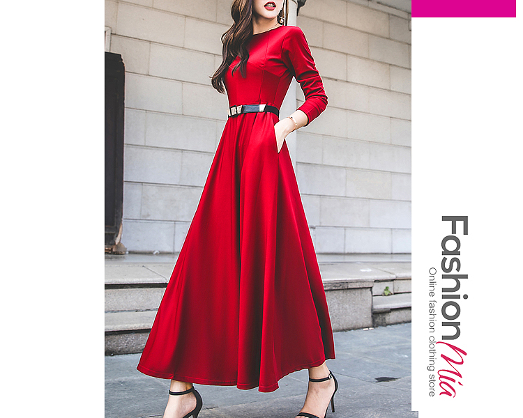 material:polyester, collar&neckline:round neck, pattern_type:plain, how_to_wash:cold gentle machine wash, supplementary_matters:all dimensions are measured manually with a deviation of 2 to 4cm., dress_silhouette:empire line, package_included:dress*1, lengthshouldersleeve lengthbust