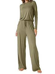 Crew Neck  Back Hole  Plain RompersJumpsuits