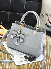 Candy Color Bowknot Pu Crossbody Bag