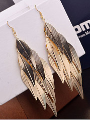 Leaf Shape Long Eariings For Women
