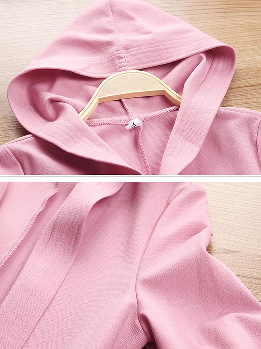 Hooded Pocket Plain Trench Coat