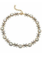 Vintage-Floral-Shape-Crystal-Necklace
