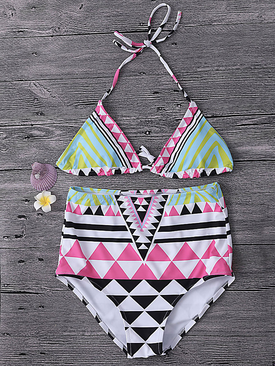 Abstract Print Bohemian  High-Rise Bikini