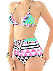 Abstract Print Bohemian  High-Rise Bikini