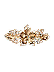 Floral Shape Imitated Crystal Hair Clip
