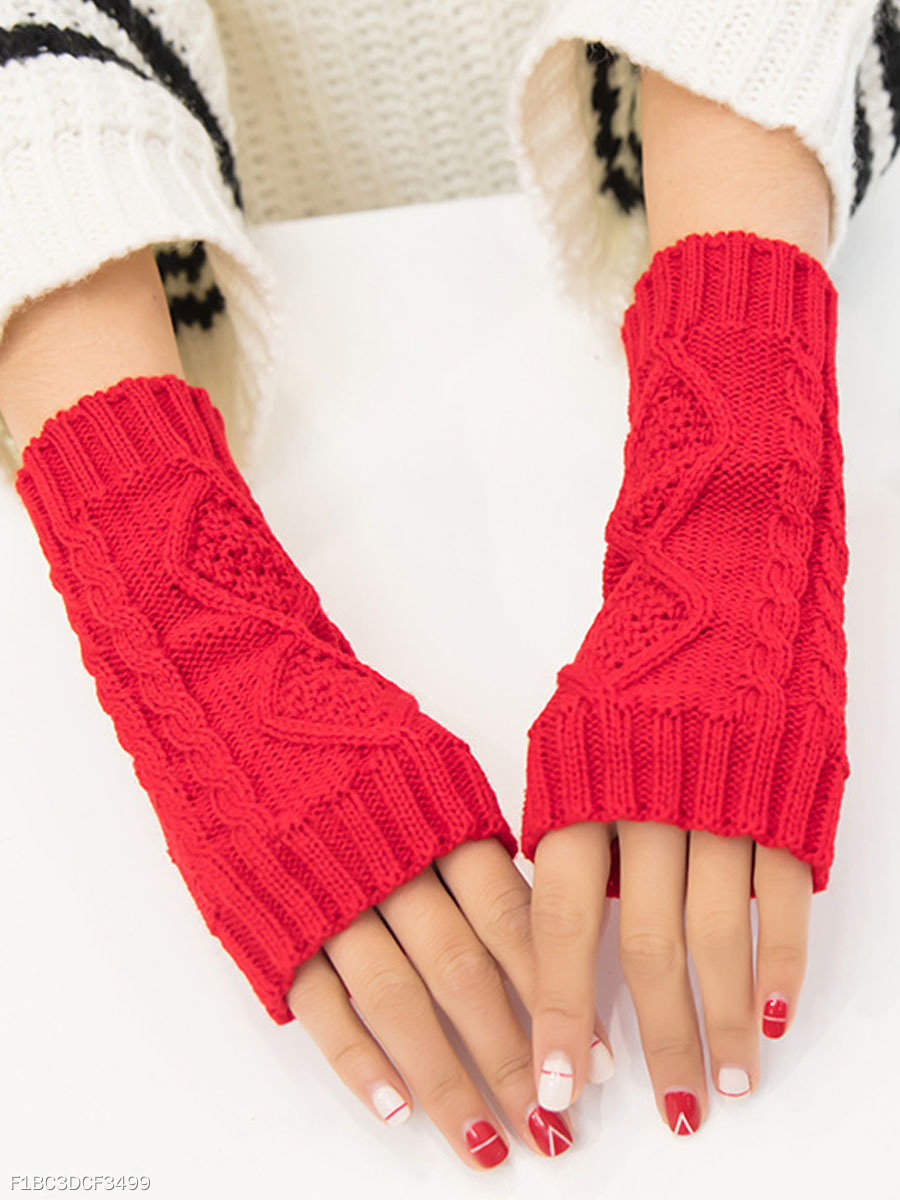 Winter Gloves Soft Warm Flip Fingerless Gloves