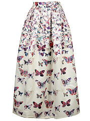 Fantastic-Butterfly-Printed-Flared-Maxi-Skirt